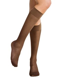 Miss Relax Micro Rete 70 Sheer Support Socks » £13.99 - Solidea Style 41770 - Support Knee Highs from Pebble UK
